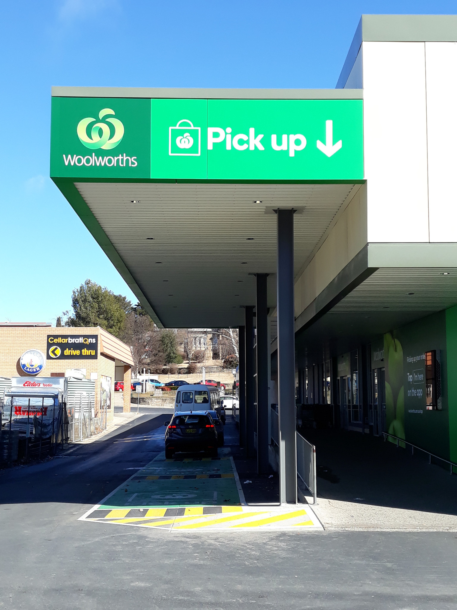 View of the new Pick Up area, looking towards the exit onto Vale Street